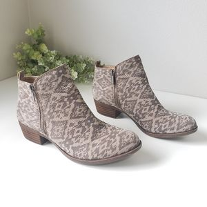 New Lucky Brand Basel Aztec Western leather boots
